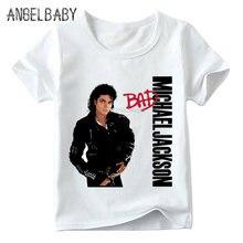 Crianças michael jackson t camisa do bebê meninos/meninas rock n rolo estrela verão topos crianças kpop casual camiseta, ooo5145