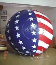 AO081 Free shipment 3m advertising PVC inflatable helium balloon/sky balloon pvc balloon with air blower for advertising events