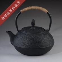 Cast Iron Tea Pot Set Japanese Teapot Tetsubin Kettle Drinkware 900ml Kung Fu Tools Stainless Steel Strainer Teakettle Genuine