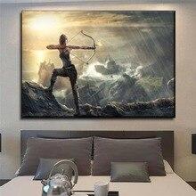 Canvas HD Printed 1 PiecesTomb Raider Lara Croft  Games Painting Wall Decorative Bedroom Modern Artwork Frame Or Frameless