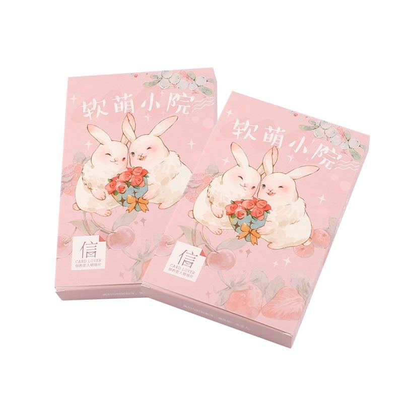 4packs/lot  Cartoon Rabbit Bird Greeting Card Postcard Bookmark Greeting Card Gift Card Wholesale