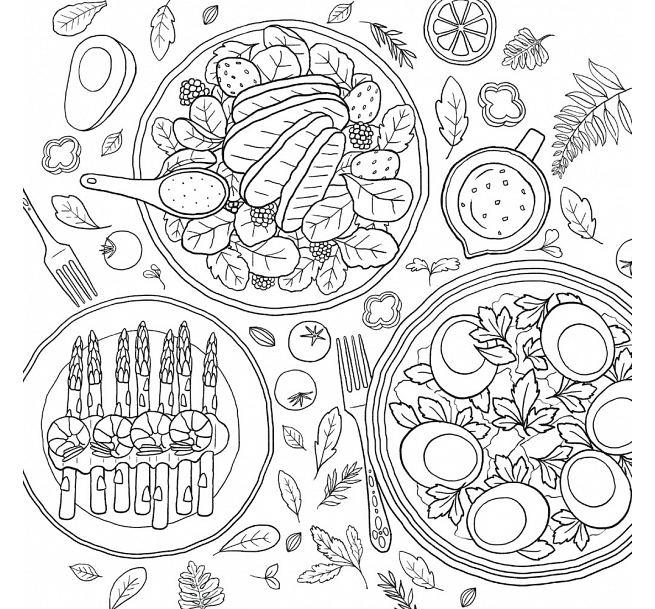 Korea Mewarnai Dan Makanan Lezat Waktu Cahaya Buku Coretan Makanan