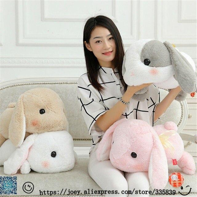 Новые Симпатичные 1 ШТ. Мягкий Кролик в том числе уха 58 см Мягкие очаровательны кролика японской Развлечь Lop плюшевые игрушки куклы Дети Девушка Лучший Подарок на день рождения