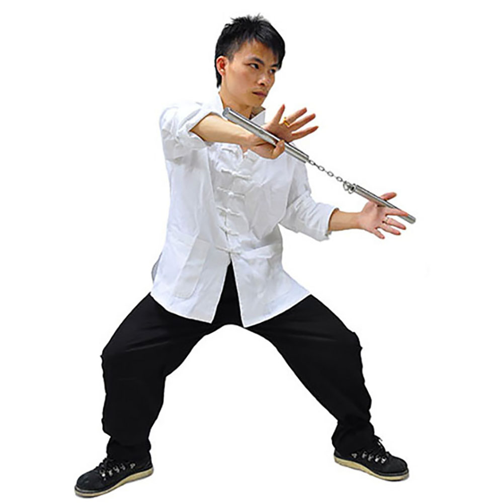 3PCS Mens Brucelee Kung Fu Suit Chinese Traditonal Clothing Wing