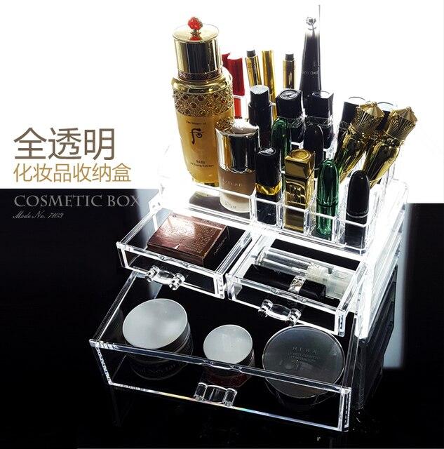 Europe Crystal Acrylic Cosmetic Multi layered Drawer Organizer Clear