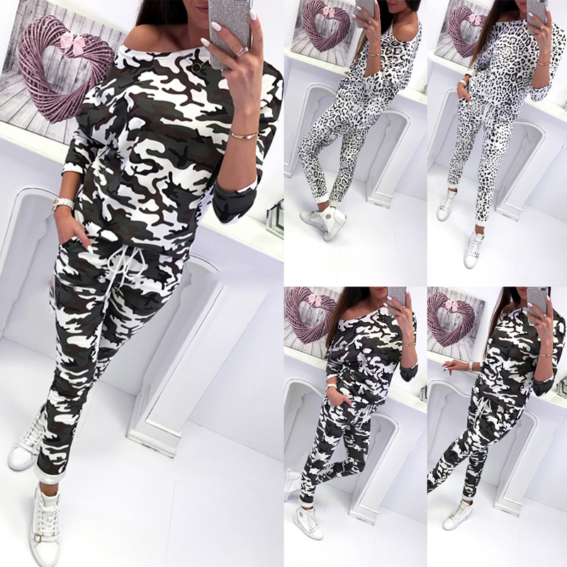 Summer Clothes For Women Two Piece Set Sleeved Ensemble Femme Shien 2 Pieces Pocket Camouflage Set 2020 New Women Sets plus size
