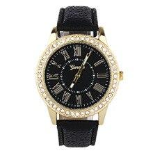 2017 Relogio Feminino  Fashion Women  Rhinestone Leather Band Quartz Wrist Watch #MAY18