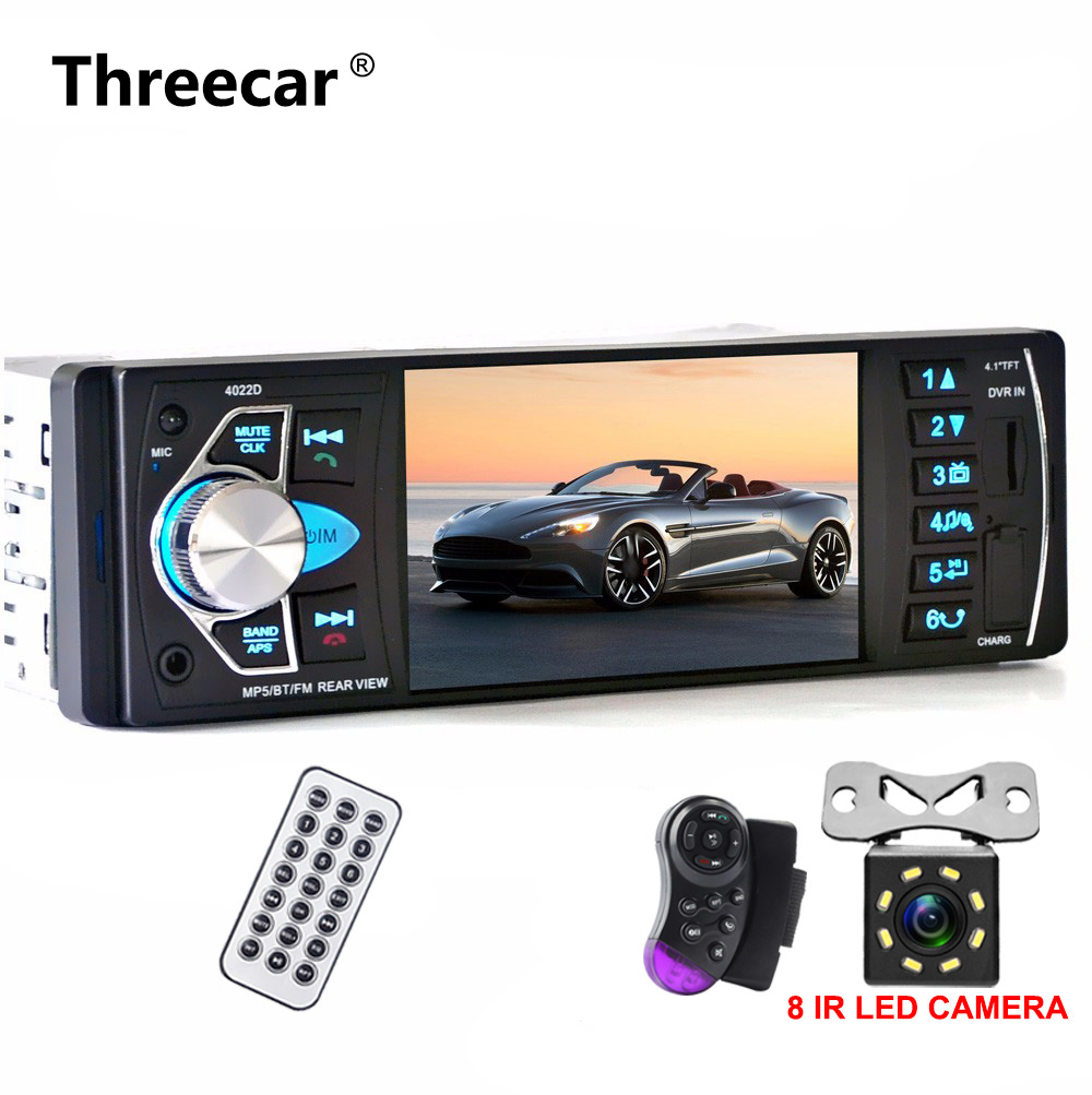 one din Car Multimedia MP5 Video Player Auto Radio Audio Stereo Rear View Camera FM Bluetooth