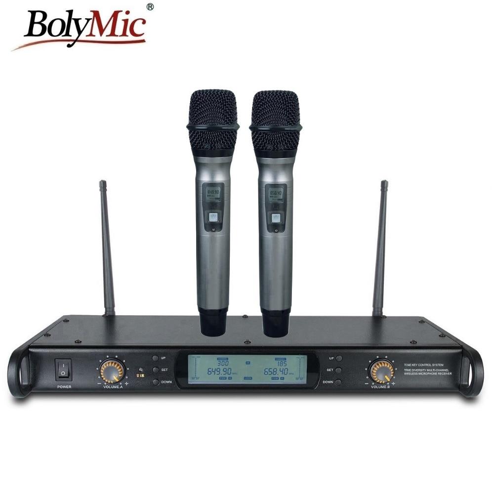 Wireless Microphone System For Teachers : bolymic professional 300 channels uhf wireless handheld karaoke microphone system for teachers ~ Russianpoet.info Haus und Dekorationen