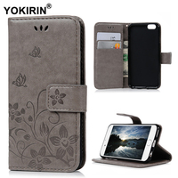YOKIRIN For IPhone 6 6S Case Cover Retro PU Leather Flip Stand Wallet Card Case Carved