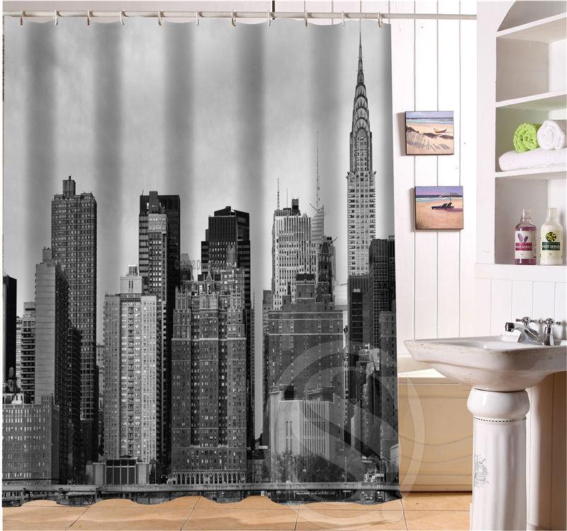 New York City Personalized Custom Shower Curtain Bath Curtain ...