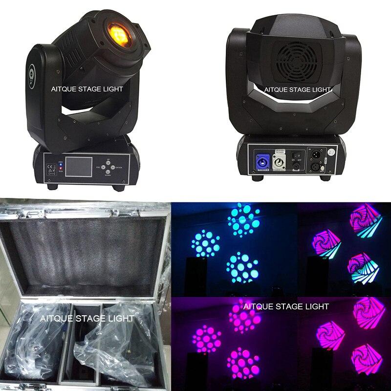 (2 лампы + Flycase) dj световое оборудование 90 Вт перемещающаяся головка Лира spot led 90 Вт привело перемещение головы пятно dmx512