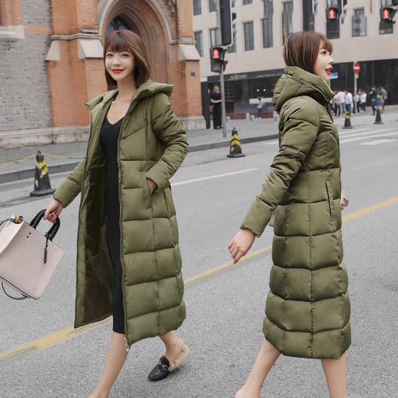 S-6XL spring winter Women Plus size Fashion cotton   Down   jacket hoodie long Parkas warm Jackets Female winter   coat   clothes