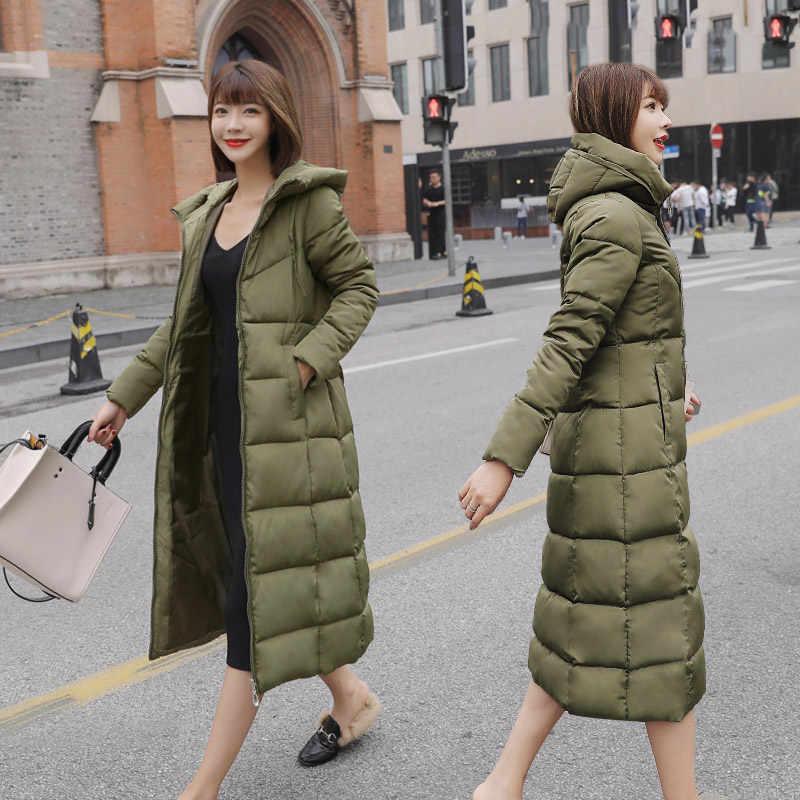 S-6XL, весна, зима, женские, большие размеры, Модный хлопковый пуховик с капюшоном, Длинные парки, теплые куртки, Женское зимнее пальто, одежда