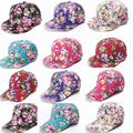 Hot Women Adjustable Baseball Cap Fashion Leisure Floral Flower Cotton Snapback Baseball Hat Travel Caps