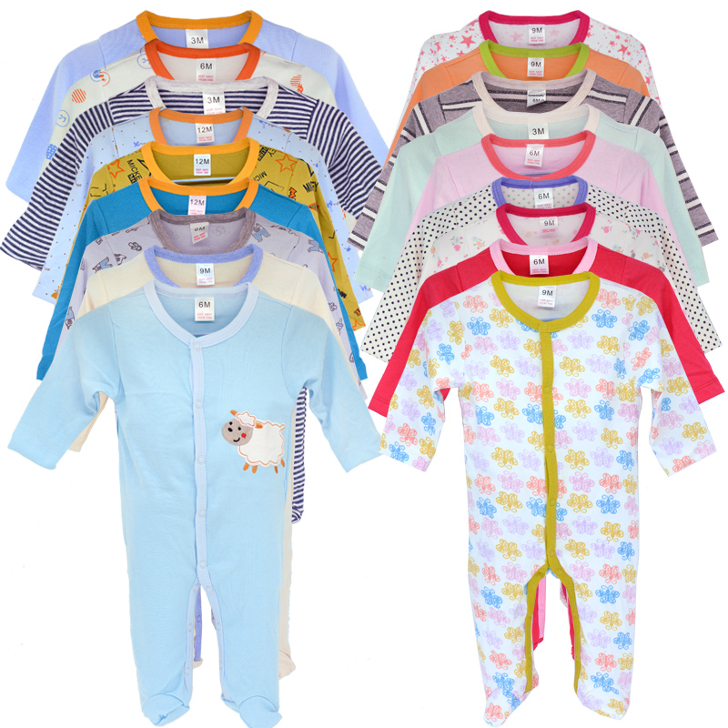 100%Cotton Baby Romper 3pcs/Set Newborn 0-12 Month Infant Footies For New Born Girl Boy Newly Born Baby Clothes