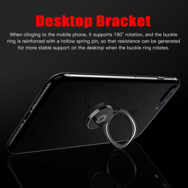 一般的な電話指リングホルダー 360 度 Xiaomi iPhone 用スタンド × 7 6 55 5 S プラススマートフォンタブレット無地バゲ