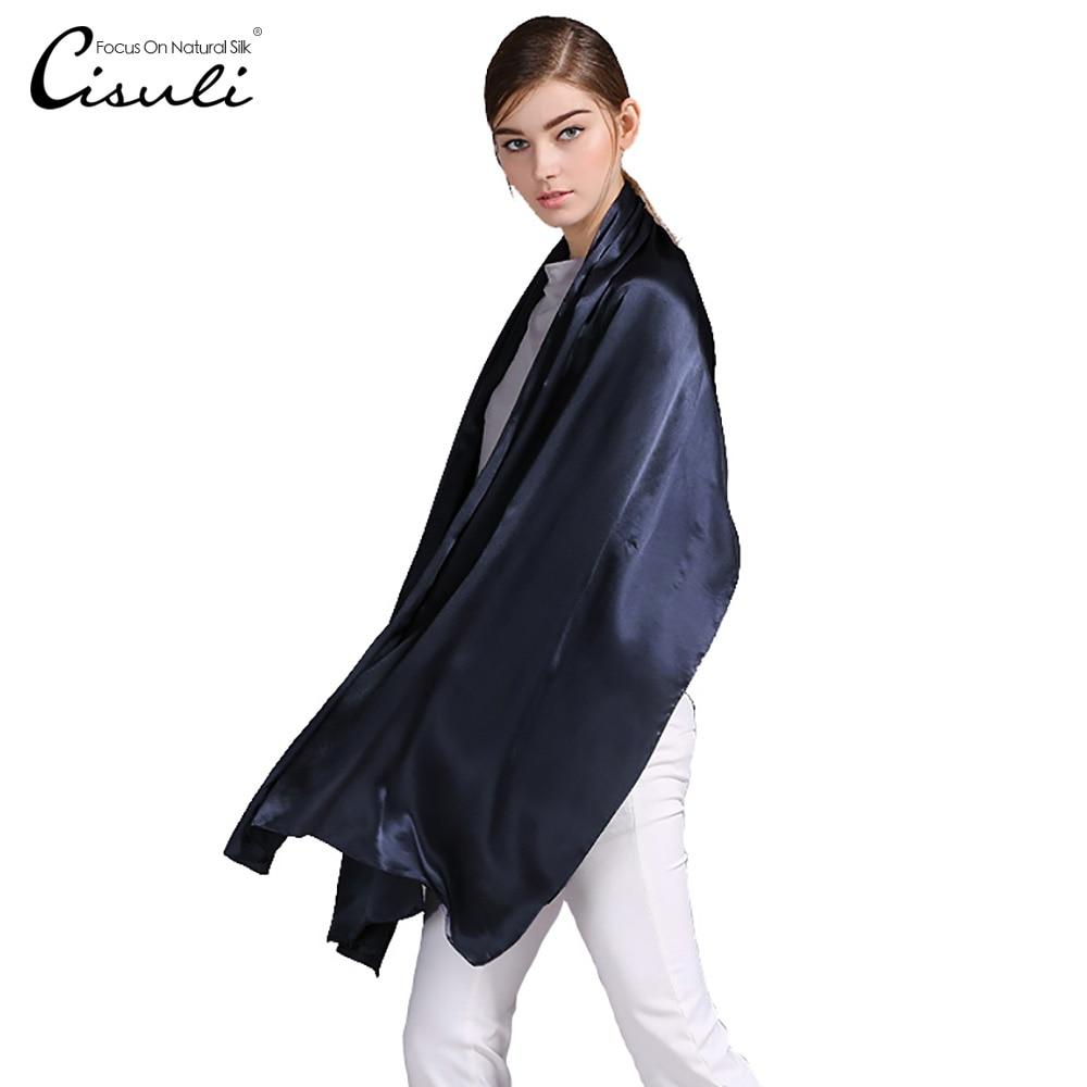 100% шовковий атласний довгий шарф 55X180 см чистий шовковиця звичайний кольоровий шовковий шарф фабрика прямий Інтернет-магазин 43 темно-синій