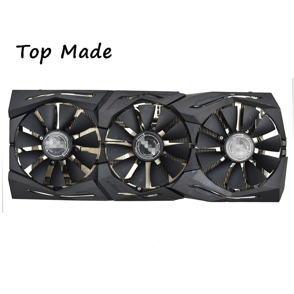 3 fans/set for ASUS Raptor ROG STRIX GTX1060 1070 1080TI Graphics Card Fan Kit Heatsink Cooler