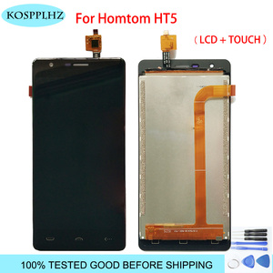 Image 1 - 1280*720 black 5inches For homtom ht5 LCD Display And Touch Screen assembly Replacement hom tom t 5 +Tools