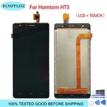 1280*720 czarny 5 cali dla homtom ht5 wyświetlacz LCD i dotykowy zamienny moduł ekranu hom tom t 5 + narzędzia