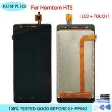 1280*720 negro de 5 pulgadas para homtom ht5 pantalla LCD y táctil asamblea de pantalla de reemplazo de hom tom t 5 + herramientas