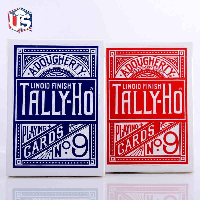 1pcs Original Tally-Ho No.9 Poker Fan Back eller Round Back Playing Cards Magic Props Magic Leksaker Magic Tricks Cardistry Deck 81300