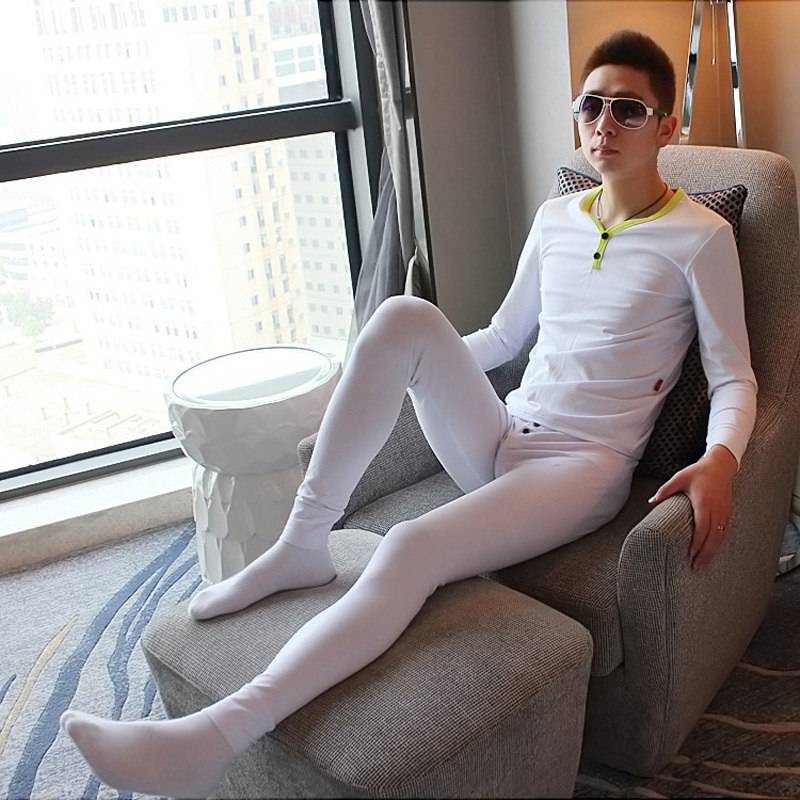 WANGJIANG men's thermal underwear suit men wrestling singlet mens long johns set(top+bottom)