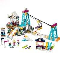 LEPIN 01042 Girl Friends Snow Resort Ski Lift Figure Blocks Compatible Legoe 41324 Construction Building Toys