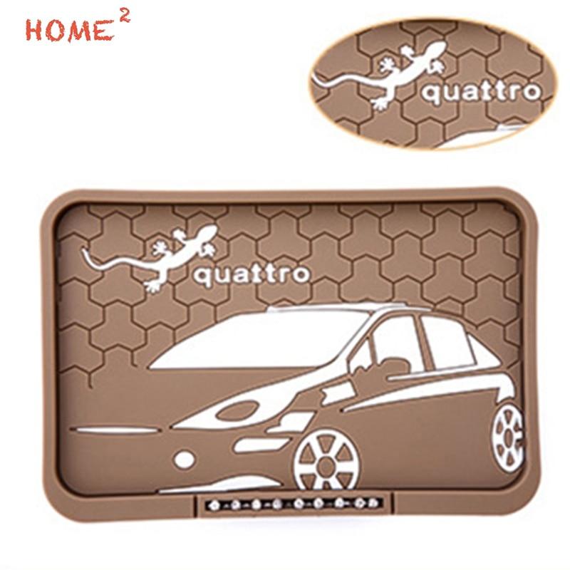 Car Styling Interior Accessories Anti-Slip Pad PVC Gecko Phone Non-slip Mat for Quattro Logo for Audi Quattro S1 Rs4 S5 C5 B5 car interior rear cargo trunk mat pad 1set artificial leather for honda crv cr v 2017 2018 car accessories styling