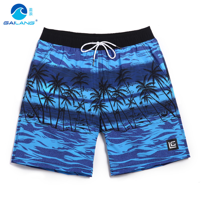 Men's summer   board     shorts   bermuda masculina flower swimming trunks surf maillot bain beach   shorts   sexy mesh bathing suit plavky