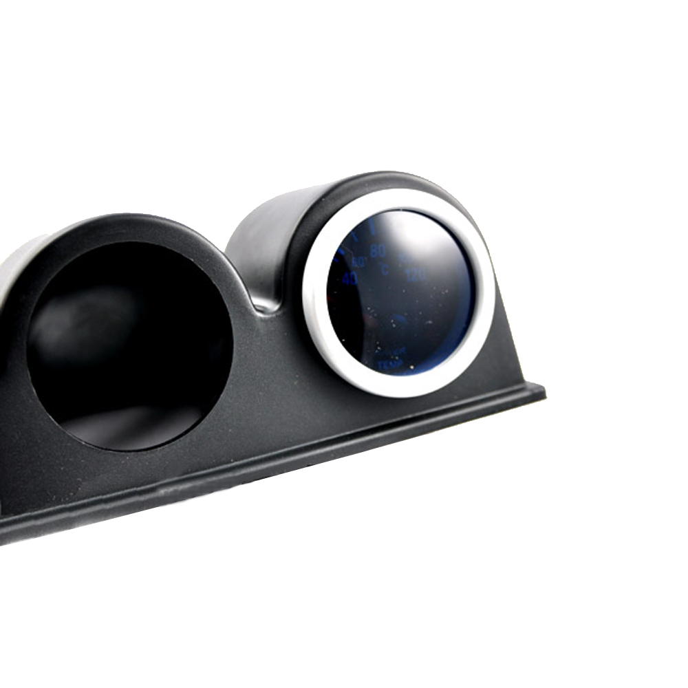 Outbit Support de jauge de Tableau de Bord Pod de jauge de Tableau de Bord Triple 2 Pouces Support de Montage de Compteur de Tableau de Bord /à 3 Trous Accessoire Automatique Universel Noir