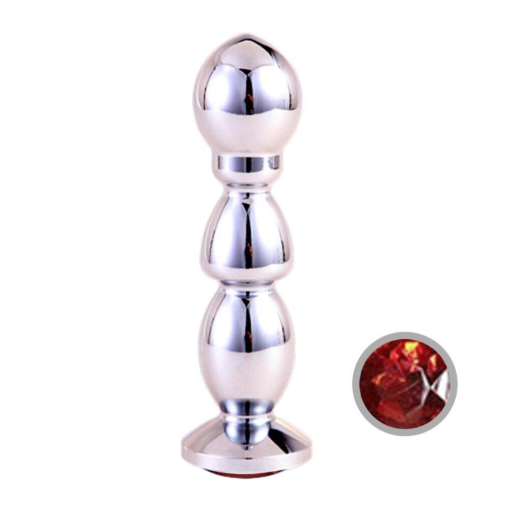 Metalen Anale Speeltjes Voor Vrouwen & Mannen, anale Butt Pluggen + Crystal Sieraden Kralen, Anale Buis, Sex Producten o70628