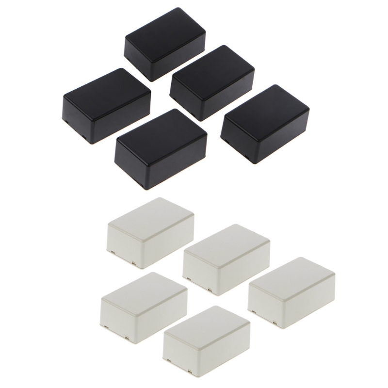 5pcs New Plastic Electronic Project Box Enclosure Instrument Case Diy 70x45x30mm For Electronic Projects Power Supply Units Stud Super Deal Black