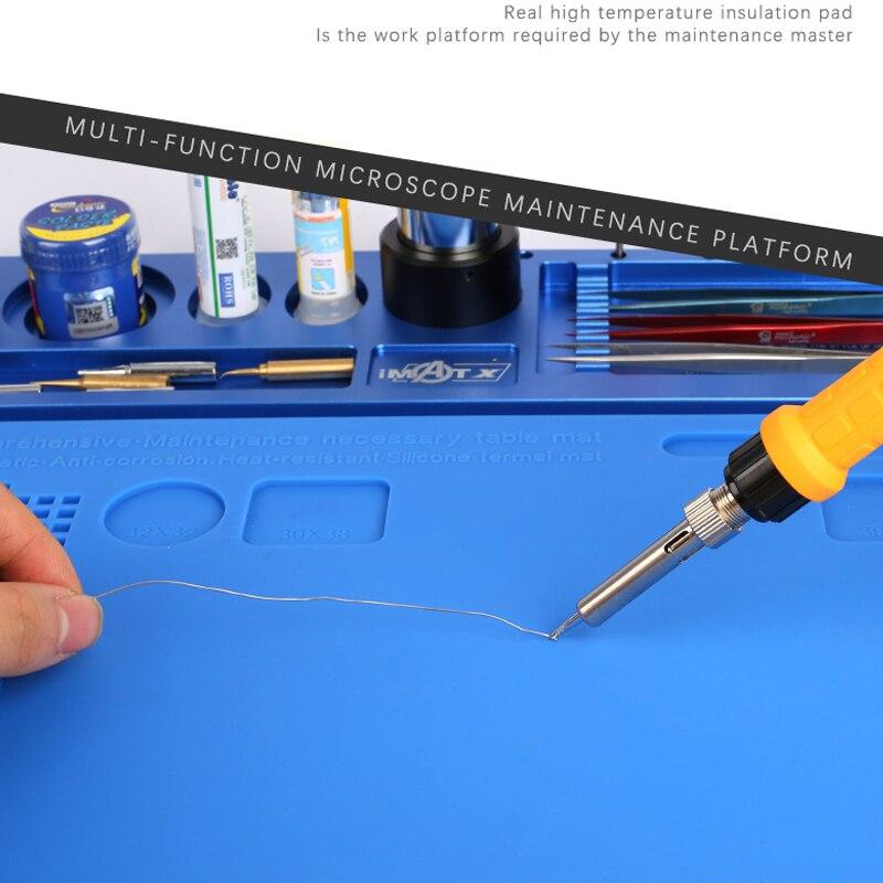 Mecánico de aleación de aluminio de Multi función de reparación de microscopio Base de reparación de teléfono móvil de la plataforma de mantenimiento - 3