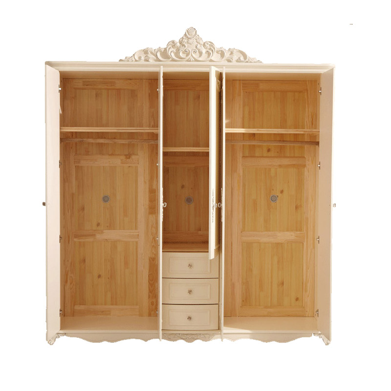 New Bedroom Furniture Solid Wood White Armoire Dresser The Five Door  Wardrobe HK003 In Wardrobes From Furniture On Aliexpress.com | Alibaba Group