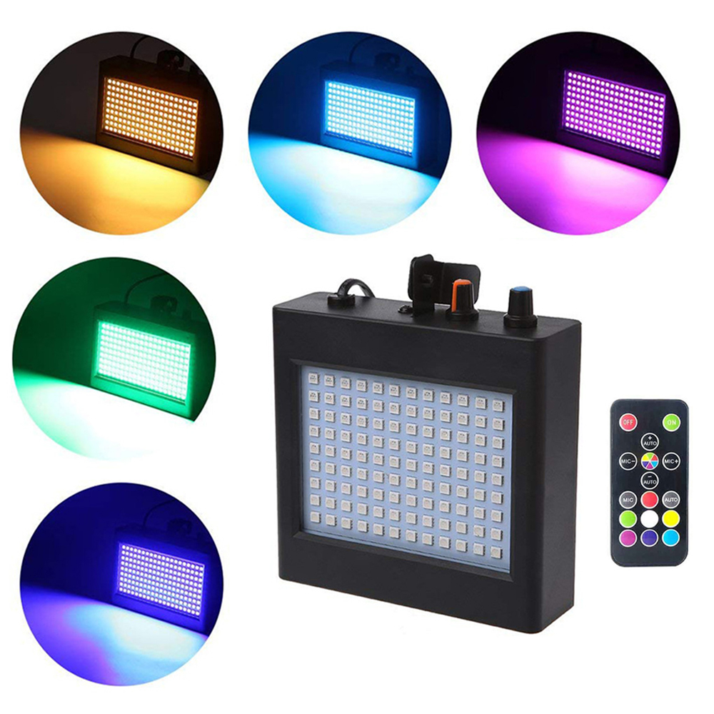 108 leds LED Party Stage Lighting RGB & Remote Sound Control Auto Operation Strobe Speed Portable Flash lamp for Halloween Disco