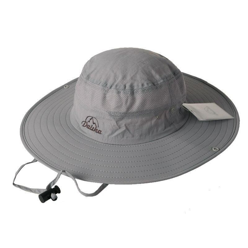 cdcd55af281 Bucket Hats Outdoor Summer Fishing Wide Brim Hat Women Sun hat climb  mountain Hat Hiking Sombrero Tourist cap