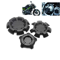 Black Motorcycle Accessories ABS Engine Slider Guard Set For Kawasaki Z900 2017