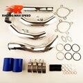 Hotsale de alumínio tubo de admissão de ar kits de admissão AUDI S4 RS4 carga de ar Conjunto Completo