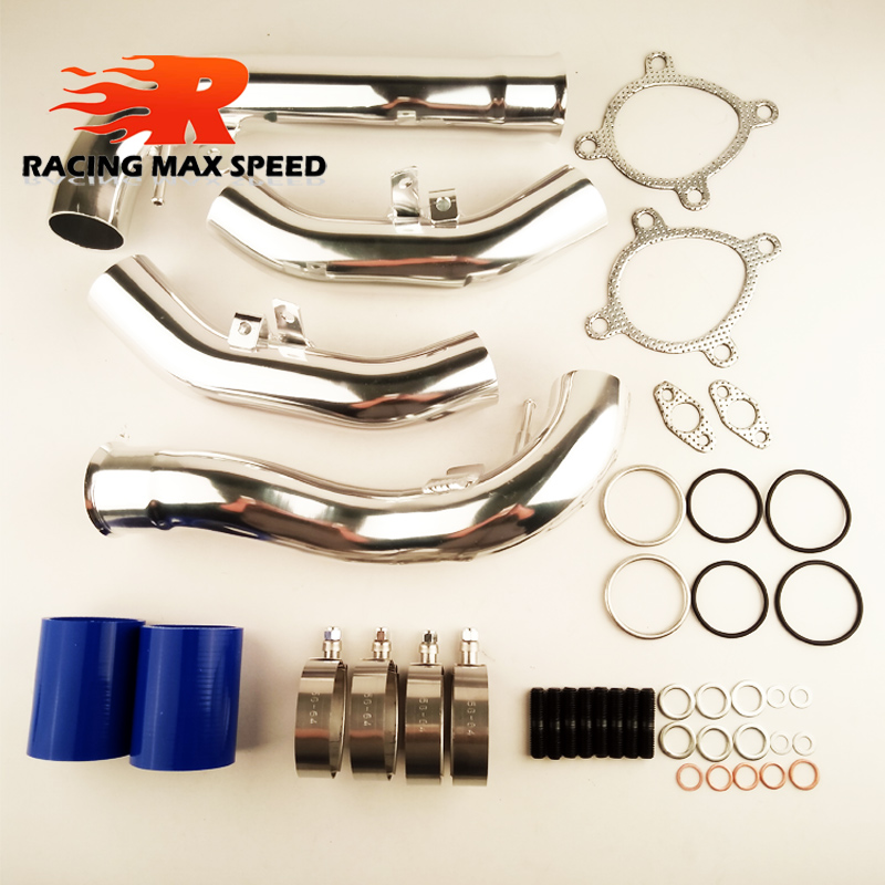 ФОТО hotsale aluminum pipe air intake kits AUDI S4 RS4 intake charge air Complete Set
