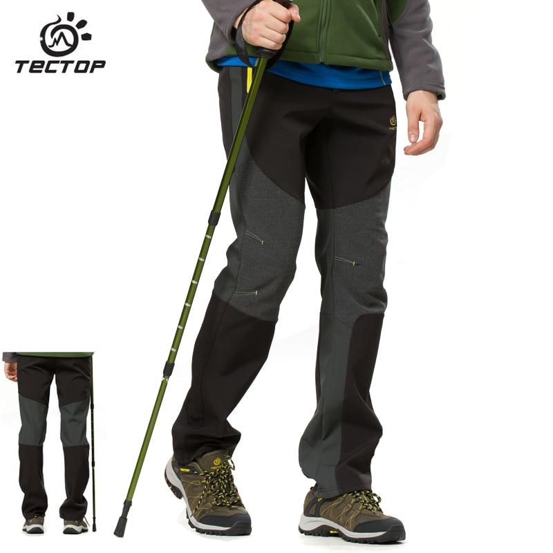 купить TECTOPWaterproof Windproof Men's Pants Outdoor Hiking Softshell Pants Women Warm Sports Hiking Trekking Pants Outdoor Trousers недорого