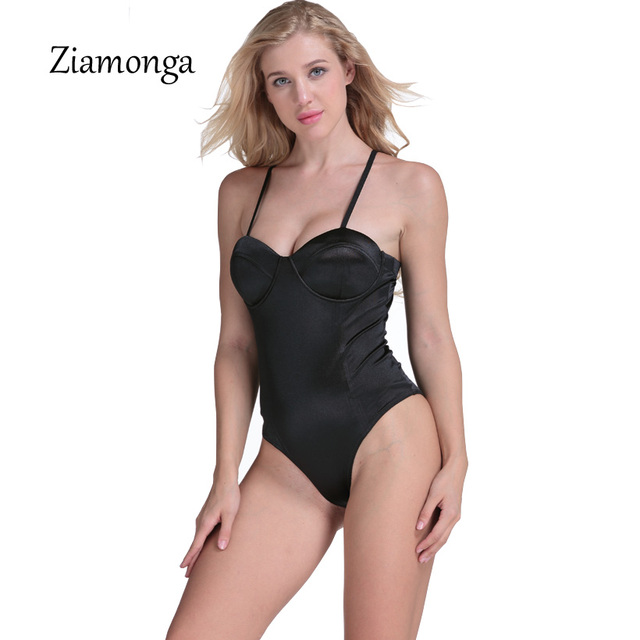 Ziamonga Women Polyester Spaghetti Strap Basic Tube Bodysuit Adjustable  Cami Strap Bodysuit Women Jumpsuit Overalls Drop 160486965