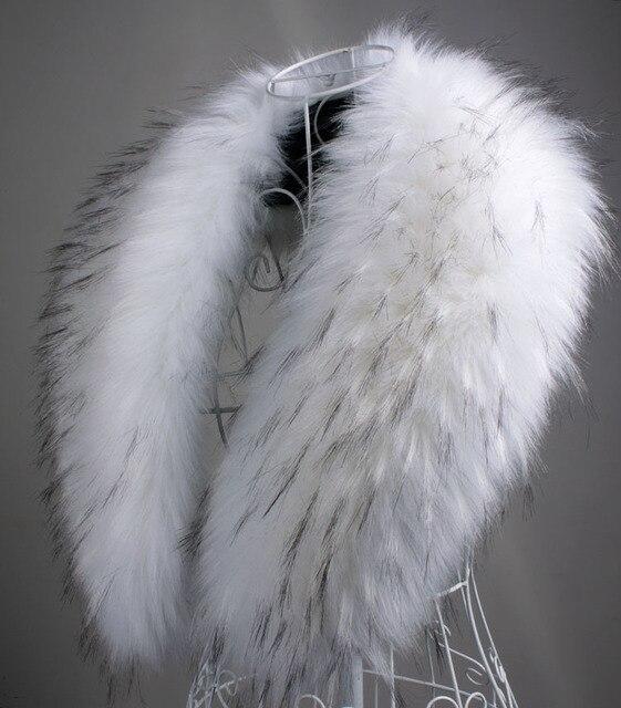 Free shipping autumn and Winter womens faux raccoon fur rabbit fox fur scarf big shawl fur collar cape pashmina 90cm