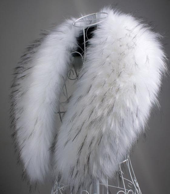 Frete grátis outono e Inverno do falso das mulheres de pele de guaxinim gola de pele de coelho cachecol de pele de raposa grande xale pashmina capa 90 cm