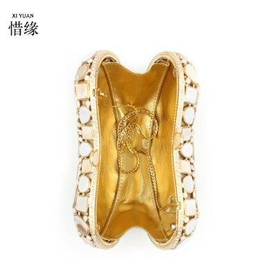 or Mini Xiyuan Noir De À Femmes La Main Cristal argent Sac Haute Parti D'embrayage Pierres Précieuses Avec Mode Sacs Qualité Lady Marque Chaîne Épaule Soirée ggwAqf4