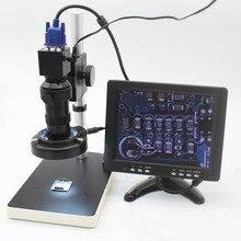 Wholesale 2.0MP 30fps Industrial Digital Electron Microscope Camera VGA Output+8X-130X Optical C-Mount Lens+LED Lights+Adjustment Holder
