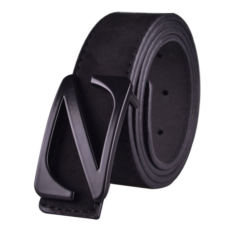 Left ROM 2019 New Mens Fashion Suede Z Pin Buckle Business   Belts   / High Quality Leisure Male   Belts   / Men   Belts   Jeans   Belts
