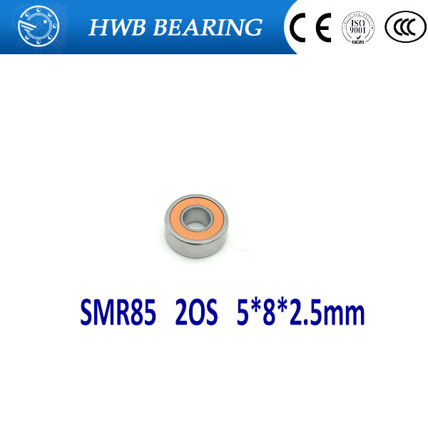 Free Shipping 2piece SMR85 2RS CB ABEC7 5x8x2.5mm Hybrid ceramic si3n4 balls+ Stainless steel rings bearing SMR85 2OS цена и фото