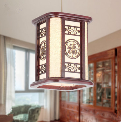 Chinese classic dark red carved wood art frame Pendant Lights white parchment E27 LED hang lamp for bar&pavilion&vestibule MF023 tradition chinese style carved wood art pendant lights retro countryside house lamp for bar